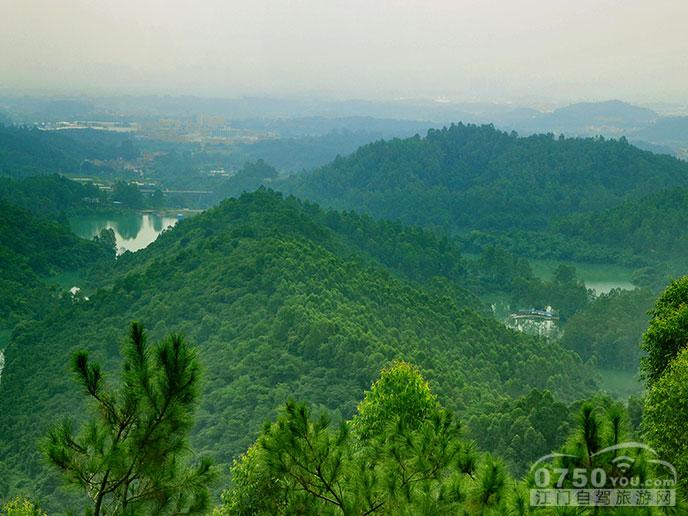 这是鹤山的仙鹤湖,景观很美,位于茶山的山脚.