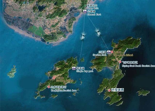 下川岛卫星地图