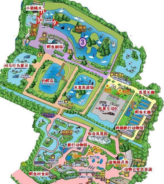 主题公园平面图手绘